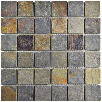 Peak Quad 1.88 x 1.88 Slate Mosaic Tile in Sunset