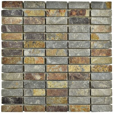 Peak Linear 0.75 x 2.25 Slate Mosaic Tile in Sunset