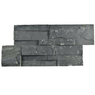 Piedro 7 x 13.5 Natural Stone Splitface Tile in Black