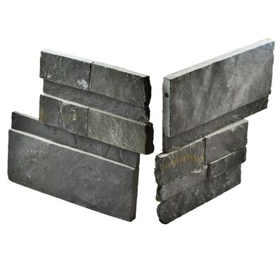 Piedro 7 x 7 Natural Stone Corner Piece Tile Trim in Black