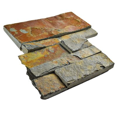 Piedro 7 x 7 Natural Stone Corner Piece Tile Trim in Rusty