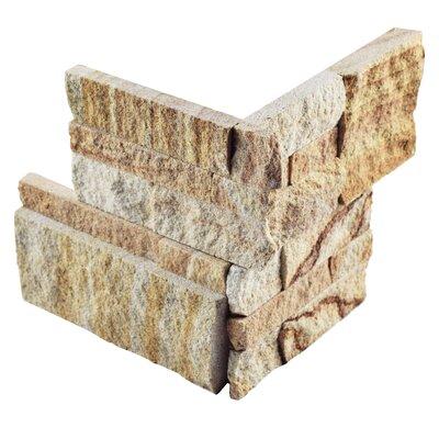 Piedro 7 x 7 Natural Stone Corner Piece Tile Trim in Sandstone