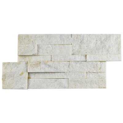 Piedro 7 x 13.5 Natural Stone Splitface Tile in Gray