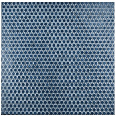 Penny 0.8 x 0.8 Porcelain Mosaic Tile in Denim Blue
