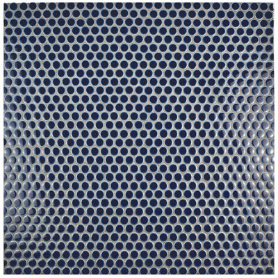 Penny 0.8 x 0.8 Porcelain Mosaic Tile in Smoky Blue