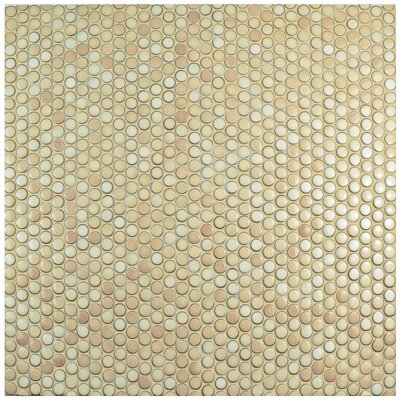 Penny 0.8 x 0.8 Porcelain Mosaic Tile in Truffle