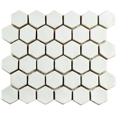 Greenwich 1.88 x 2.13 Ceramic Mosaic Tile in White