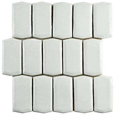 Greenwich Prism 1.88 x 3.75 Ceramic Mosaic Tile in White