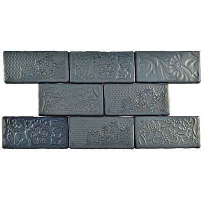 Antiqua 3 x 6 Ceramic Subway Tile in Feelings Griggio