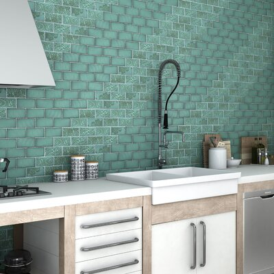 Antiqua 3 x 6 Ceramic Subway Tile in Feelings Lava Verde