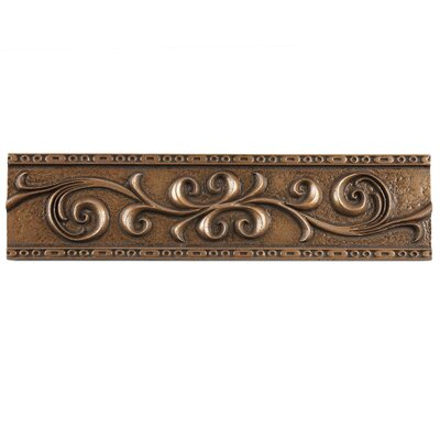 Milton 12 x 3 Resin Liner Accent Tile in Scroll Bronze