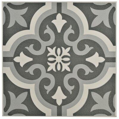 Lima 7.75 x 7.75 Ceramic Field Tile in Black