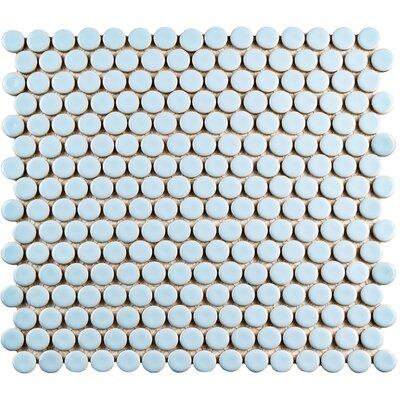 Penny 0.8 x 0.8 Porcelain Mosaic Tile in Cashmere Blue