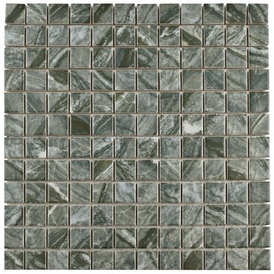 Amelia 0.88 x 0.88 Porcelain Mosaic Tile in Gray