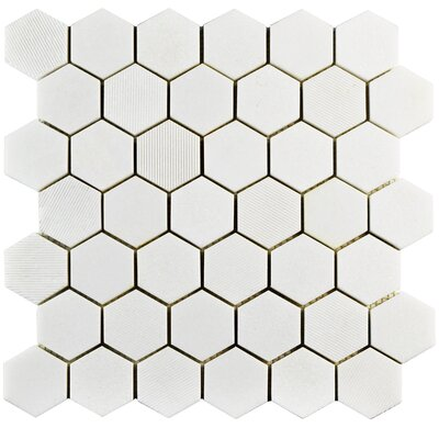 Formation 1.88 x 1.88 Marble Mosaic Tile in White