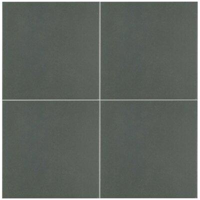 Forties 7.75 x 7.75 Ceramic Floor and Wall Tile in Matte Dark Gray
