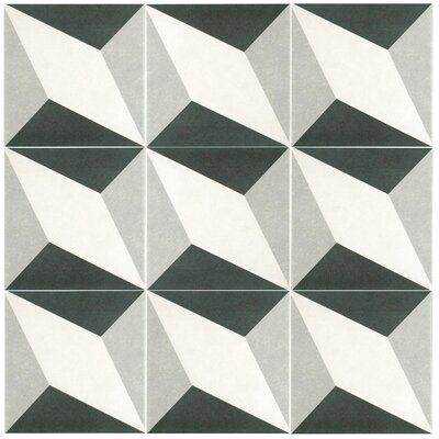 Forties 7.75 x 7.75 Ceramic Field Tile in Gray