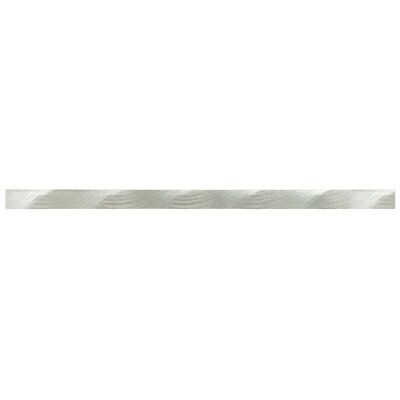 Commix 0.63 x 11.75 Metal Liner Tile in Linear Silver