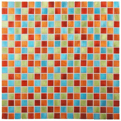 Alundum Mini 0.56 x 0.56 Aluminum Mosaic Wall Tile in Red/Orange