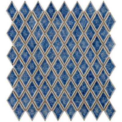 Interval 1 x 2 Ceramic Mosaic Tile in Azure Blue
