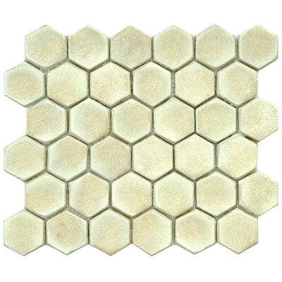 Greenwich Hex 1.88 x 1.88 Ceramic Mosaic Tile in Off-White
