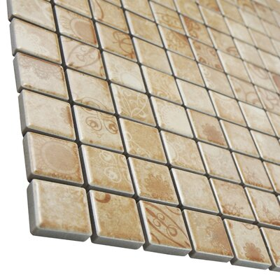 Filigree 0.9 x 0.9 Porcelain Mosaic Floor and Wall Tile in Brown