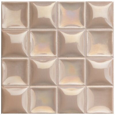 Catarina 7.88 x 7.88 Ceramic Field Tile in Trencat Tan Pearl