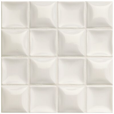 Catarina 7.88 x 7.88 Ceramic Field Tile in Nacar Cream Pearl
