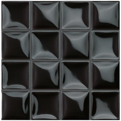 Catarina 7.88 x 7.88 Ceramic Field Tile in Black