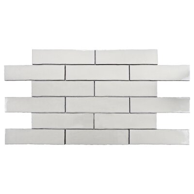 Anchorage 3 x 12 Ceramic Field Tile in Craquelle White