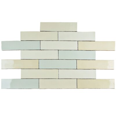 Anchorage 3 x 12 Ceramic Wall Tile in Craquelle Mix