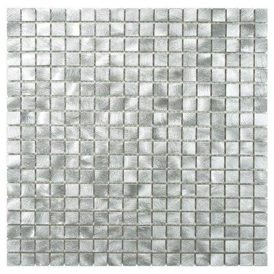 Alundum Mini 0.56 x 0.56 Aluminum Mosaic Tile in Palladium Silver