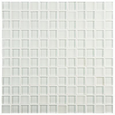 Sierra 11.625 X 11.625 Glass Mosaic Wall Tile in Ice White and Clear Melody