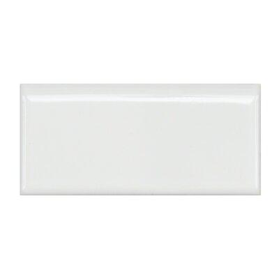 Retro 1.75 x 3.75 Bullnose Porcelain Tile in Glossy White