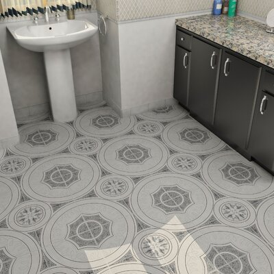 Massa 12.5 X 12.5 Ceramic Floor and Wall Tile in Negro