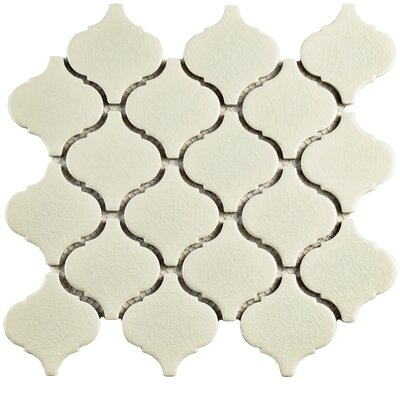 Retro Lantern 2.87 x 3.06 Ceramic Mosaic Tile in Crackle White