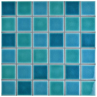 Enclave 1.88 x 1.88 Porcelain Mosaic Tile in Hawaii Blue