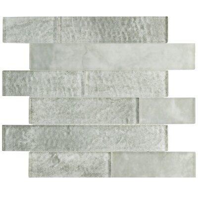 Nieve 11.625 x 11.75 Panel Glass Mosaic Tile in Ash