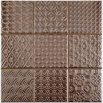 Vigor 3.88 x 3.88 Porcelain Mosaic Tile in Copper