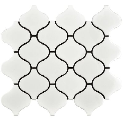 Caldera 3 x 3 Porcelain Mosaic Tile in White