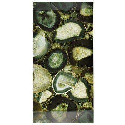 Archaea 11.75 x 23.75 Glass Field Tile in Verde/Black