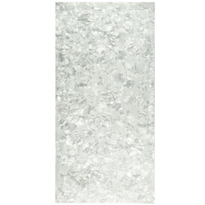 Nautila 11.75 x 23.75 Glass Field Tile in Silver/White