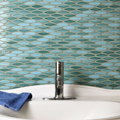 Paissan 0.69 x 2.44 Ceramic Mosaic Tile in Teal/Aqua