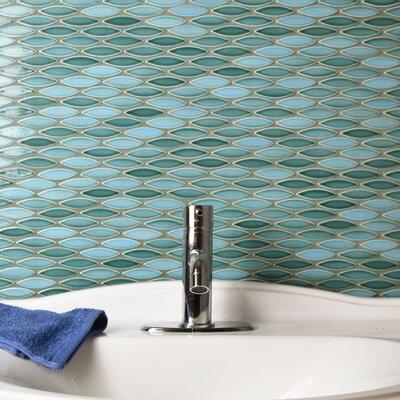 Paissan 0.69 x 2.44 Ceramic Mosaic Tile in Glossy Aqua