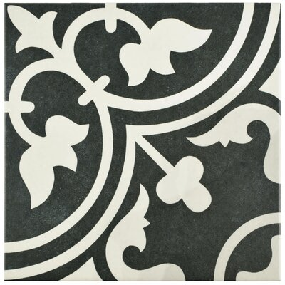 Artea 9.75 x 9.75 Porcelain Field Tile in Black