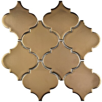 Essentia 4.9 x 5.2 Porcelain Mosaic Tile in Burnished Bronze