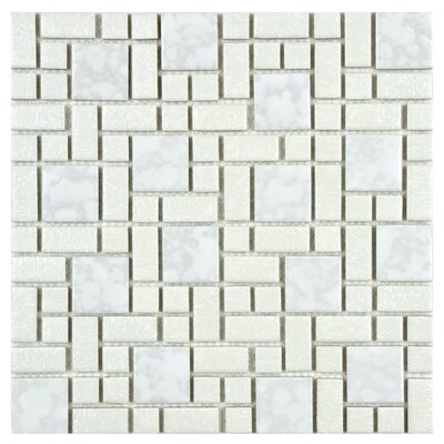 Academy Random Sized Porcelain Mosaic Tile in White