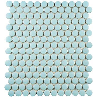 Retro Penny Round 0.75 x 0.75 Porcelain Mosaic Tile