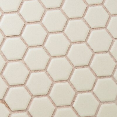 New York Hexagon 0.875 x 0.875 Porcelain Unglazed Mosaic Tile in Textured Cream