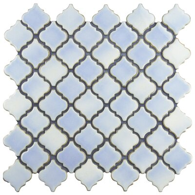 Pharsalia 2 x 2.25 Porcelain Mosaic Tile in Frost Blue